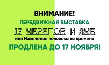 Выставка продлена до 17 ноября!