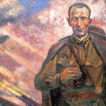 Фрагмент фильма о перезахоронении останков бойцов батареи капитана Флёрова